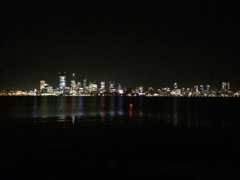 Perth city skyline at night