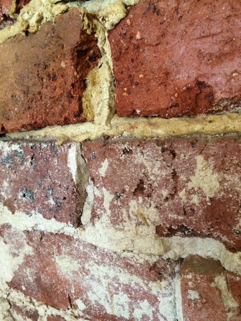 Exposed brickwork