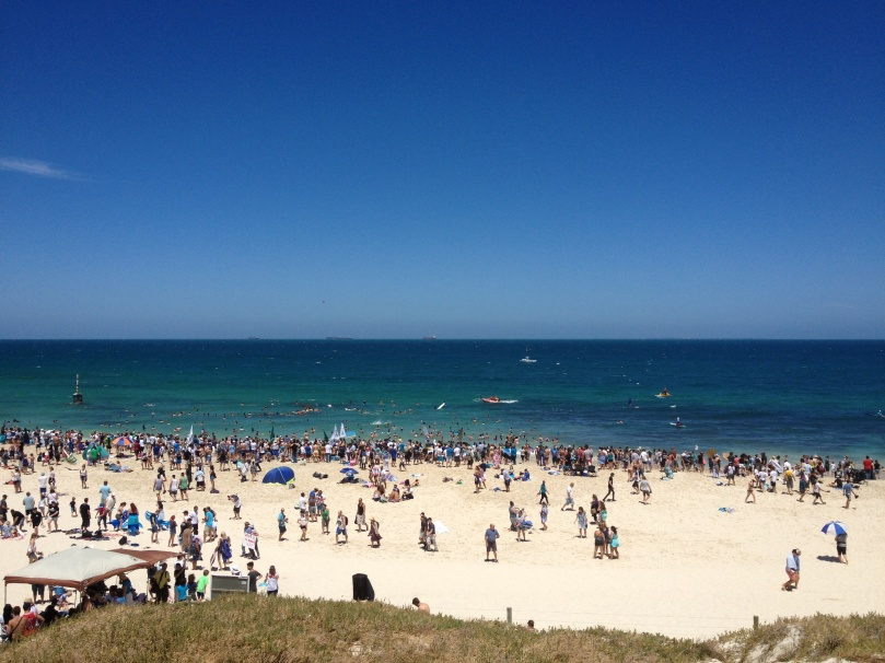 Hot summer day at Cottesloe