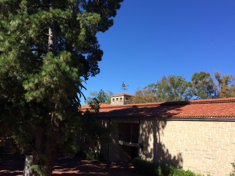 View of UWA Arts building weather vane